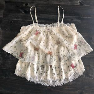LC Lauren Conrad lace top